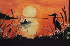 Sunset-with-Heron